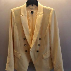 White Houde Black Market Yellow Jacket